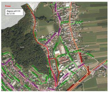 Popolna zapora dela občinskih cest zaradi izvedbe teka Petra Levca, dne 11. 9. 2021