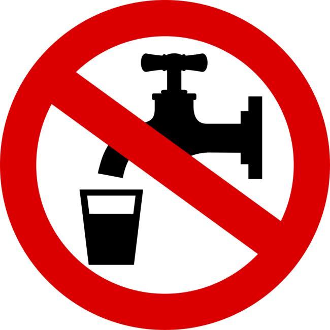 Obvestilo o moteni oskrbi z vodo  - del Cerkelj