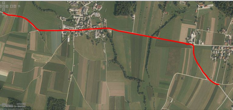 Obvestilo o delni zapori ceste na relaciji Cerklje - Trata pri Velesovem, do 17.9.2021