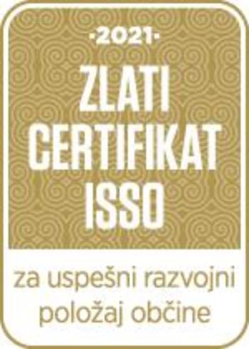 Občina Cerklje na Gorenjskem na 4. mestu - ISSO certifikat razvojne odličnosti 2021