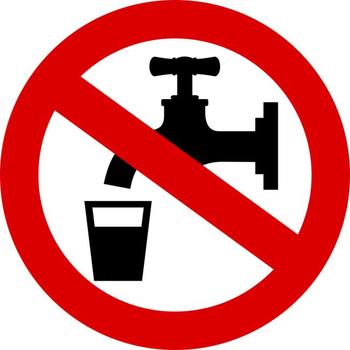 Obvestilo - motena oskrba s pitno vodo vodo, Adergas