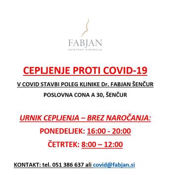 ESTETIKA FABJAN - CEPLJENJE PROTI COVID-19