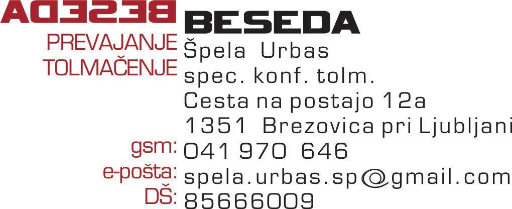 ŠPELA URBAS S.P.