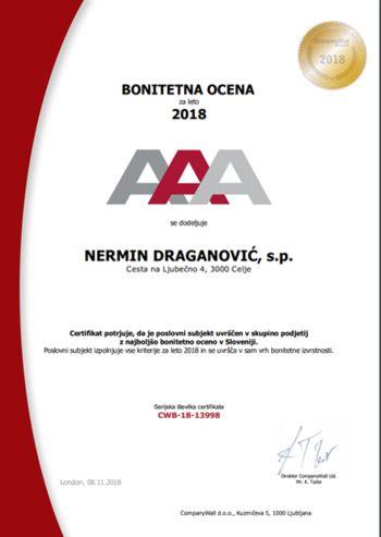 NERMIN DRAGANOVIĆ, s.p.
