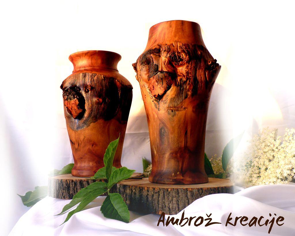 vaze... lesene. za suho cvetje (jablana)