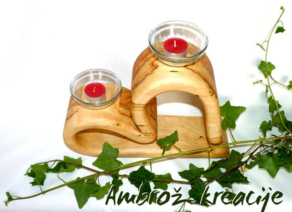 Stojalo-svečnik, poročno darilo
