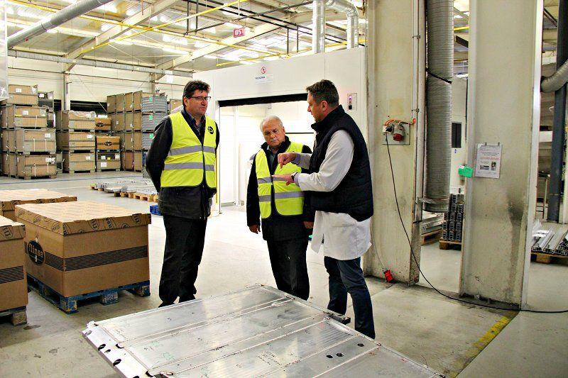 Župan Ivan Molan obiskal lokaciji širitve podjetja TPV v Brežicah