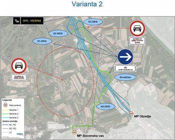 Nova prometna signalizacija za razbremenitev lokalnih cest v smeri mejnega prehoda Slovenska vas