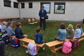 Župan ob prvem šolskem dnevu obiskal Osnovno šolo Velika Dolina