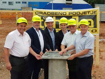 Položili temeljni kamen za Poslovno-logistični center Komunale Trebnje