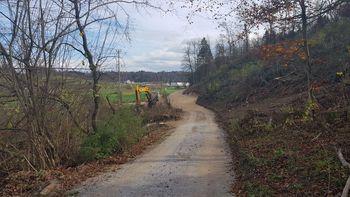 Gozdne ceste na Veliki Loki zgrajene in pripravljene na uporabo