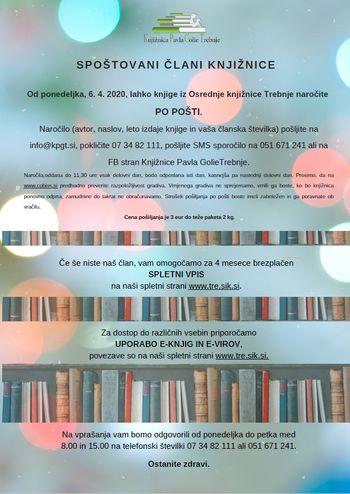 Knjižnica Trebnje: Pošiljanje knjig po pošti