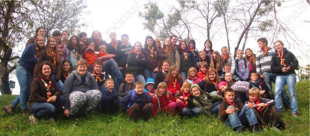 Skavti ob začetku skavtskega leta 2011/12