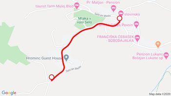 Popolna zapora - obvozna cesta dvosmerno (5m) Selo pri Bledu I
